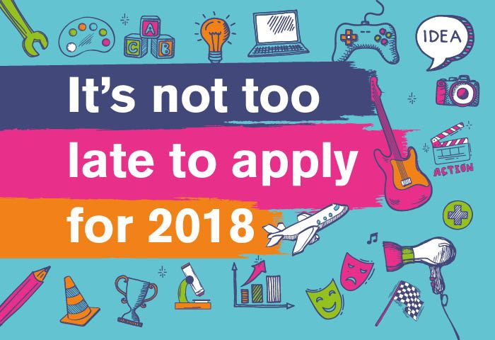 You can still apply for 2018