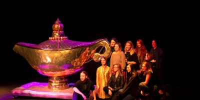 Students create magical lamp for Worthing Theatres