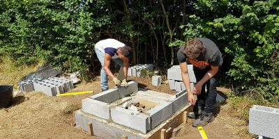 Construction students trip to Normandy