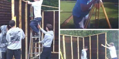 Northbrook MET carpentry students build horse shelters