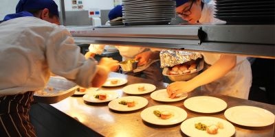 Heated charity challenge for student chefs