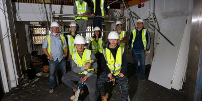 Construction students work with Brighton and Hove Food Partnership