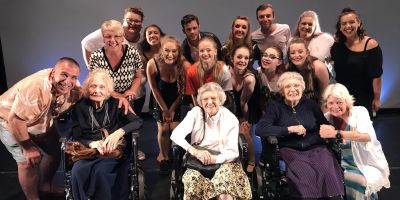 Theatre students entertain residents