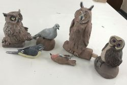 Pottery | Sculpting birds in paper clay