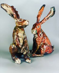 Pottery | Sculpting Hares in Paper Clay
