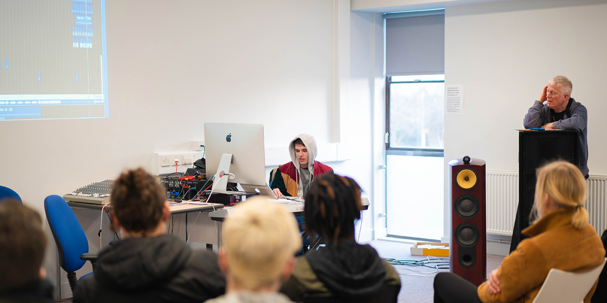 Big-name music producer visits college