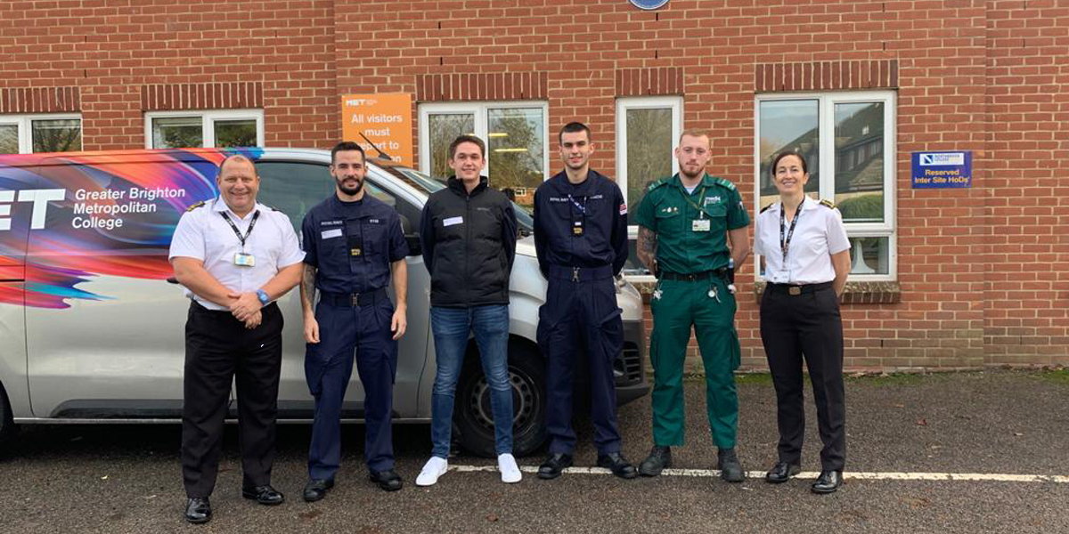 Uniformed Services students joined by MET alumni for mock Police assessment day