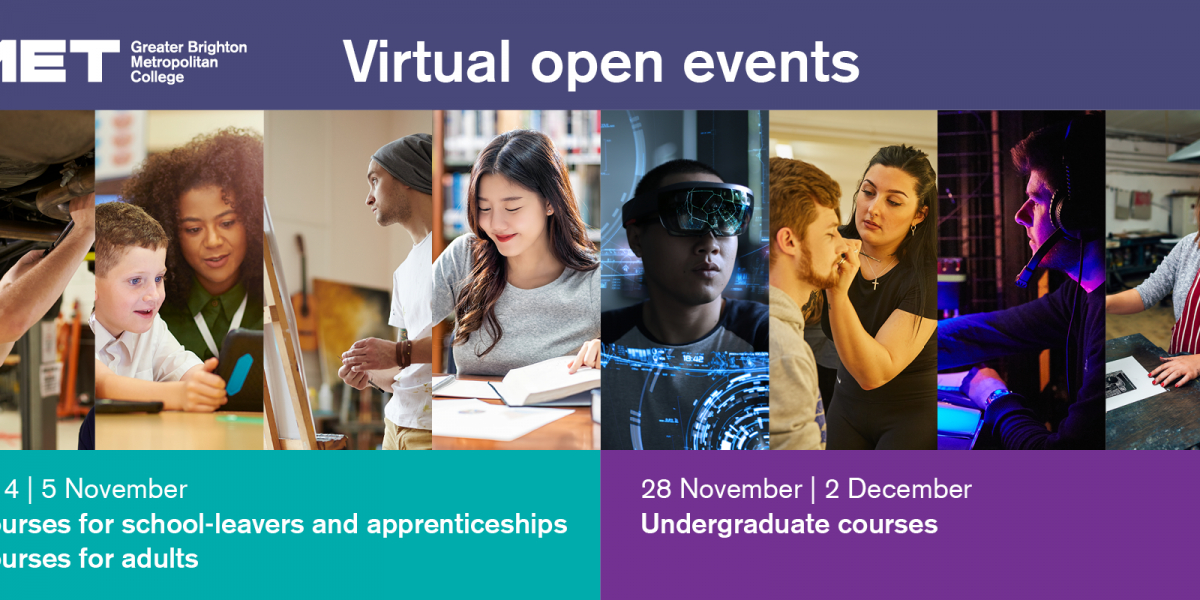 Virtual open event for HE courses